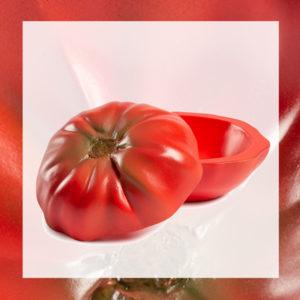 bol de resina tomate rojo