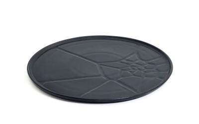 Black Earthquake Plate 3 Pcs