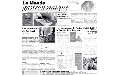 """Papel Periódico """"Le Monde Gastronomique"""""""