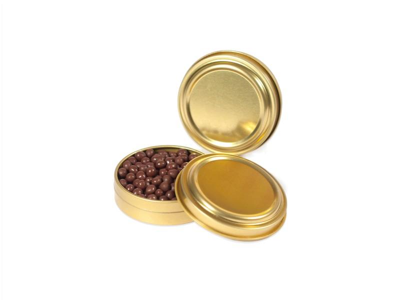 Boites imitation caviar couleur or