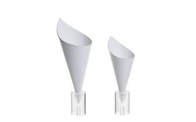 Cones carton blanc XS