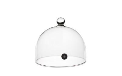 Cloche ronde en pyrex (avec valve) diamètre 14 cm x 6 unités