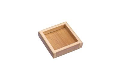 Plato Cuadrado Caña Bambú