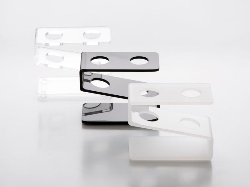 Support en plexiglass pour 2 tubes