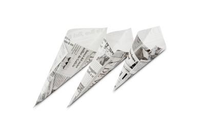Cône papier journal S
