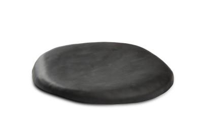 assiette  lave noire XS