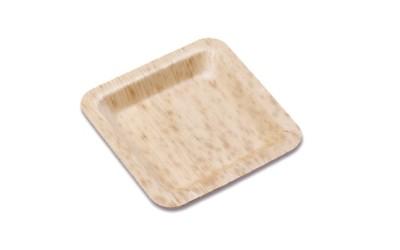 Plato cuadrado Bambú