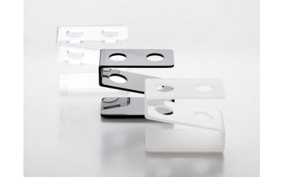 Reagenzglashalter Plexiglas für 2 Reagenzgläser