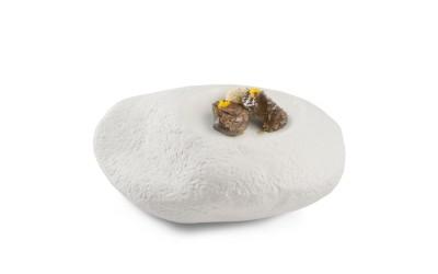 Großer Stein Porzellanteller