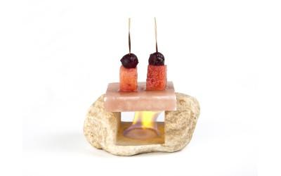 Marmor-Tischständer für Salzplatte Himalaya