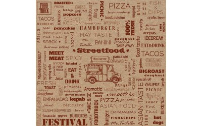 Street Food Kraft Paper