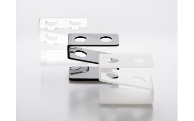 Supporto Plexiglass 2 Provette