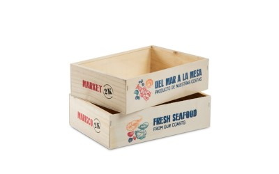 Caja madera marisco 2 kg
