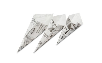 Papiercornet im Zeitungsdesign