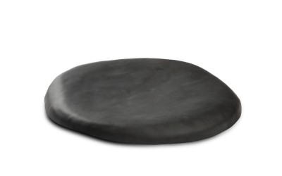 Schwarzer Lava Teller XS