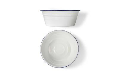 Balde Peltre Ø16 Cm Blanco/Azul 6 Uds.