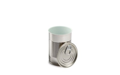 Tall Round Tin Can with lid 100 pcs