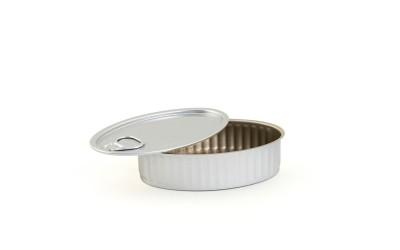 Oval Aluminium Cans - 100 pcs
