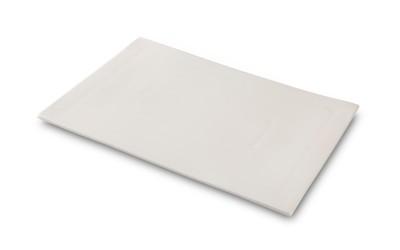 Plato de porcelana Lienzo blanco