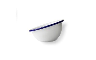 Salsera Peltre Ø8 Cm Blanco/Azul 36 Uds.